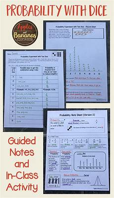 theoretical probability worksheets grade 6 6027 probability with dice theoretical and experimental probability activity apples and bananas