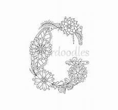 Ausmalbilder Buchstaben G Coloring Page Floral Letters Alphabet G By