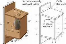 squirrel houses plans 20 squirrel nest box plans squirrel den box plans ideas