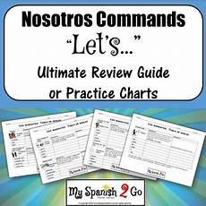 nosotros commands ultimate review guide or practice charts by my 2 go