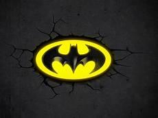 dc 3d deco light batman logo