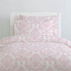pink painted damask duvet cover carousel designs