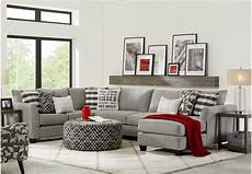Barkley Heights Gray 3 Pc Sectional Sectional Living