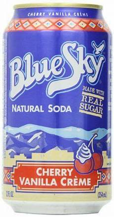 Amazon Com Bluesky 12 Pairs Blue Sky Cherry Vanilla Cream Soda 12 Ounce Cans Pack Of