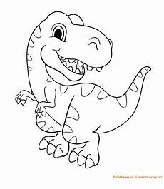 דף צביעה דינוזאור רקס dinosaur coloring pages