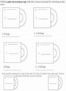 cooking measurement worksheets free 1982 kitchen measuring chart worksheets cooking activities