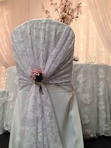new in lace hooded chair covers with pink flowers in