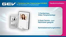 Gev Türsprechanlage - gev 1 familienhaus t 252 rsprechanlage cvb 88320