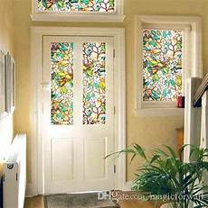 Kitchen Door Transfers by 3d Magnolia Flower Stained Glass Static Cling Window