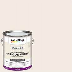 colorplace pre mixed ready to use interior paint white satin finish 1 gallon