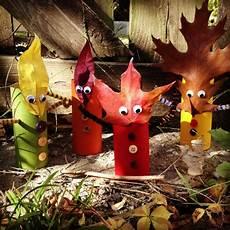 herbstdeko basteln kinder fall friends leaf friends crafted from autumn