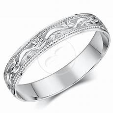 18ct white gold ring heavy weight court shaped diamond cut wedding band ebay