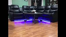 led sofa led strip lighting under sofa youtube