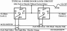 Wire Diagram Power Door Lock by Door Lock Wiring