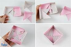 schachtel falten anleitung origami schachteln aus papier falten die perfekte