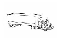 Car Transporter Cement Truck Outline Coloring Pages  Best