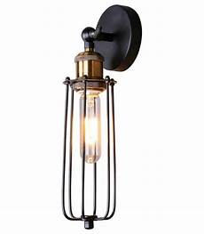 black edison cage wall sconce depot