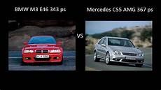 Bmw M3 E46 343 Ps Vs Mercedes C55 Amg 367 Ps Acceleration
