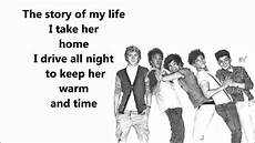 story of my one direction lyrics song