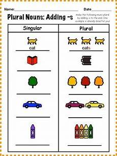 plural nouns adding s worksheet by carly taylor tpt