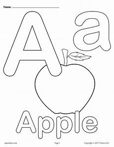 letter color worksheets 23037 letter a alphabet coloring pages 3 free printable versions supplyme
