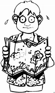 Malvorlagen Jungen Kostenlos Tageskarte Junge Mit Karte Ausmalbild Malvorlage Comics