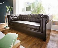 couch braun delife couch chesterfield braun 3 sitzer sofa otto