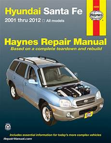 car maintenance manuals 2007 hyundai santa fe auto manual haynes hyundai santa fe 2001 2012 auto repair manual