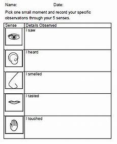 artistry of education thanksgiving prompt with free sensory details recording sheet and