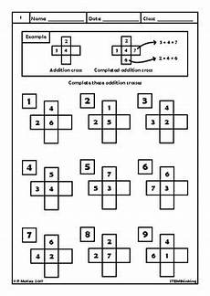 multiplication worksheets puzzle 4547 addition crosses elementary school math puzzle worksheets by stemthinking