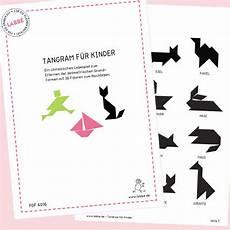Tangram Kinder Malvorlagen Pdf Tangram F 252 R Kinder Pdf Basteln Malen Lernen Spielen