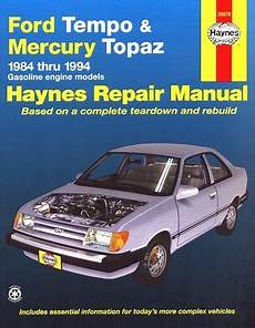 free download parts manuals 1994 ford tempo auto manual ford tempo mercury topaz repair manual 1984 1994 haynes