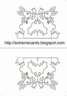 free printable easter pop up card templates cards and papercrafting easter rabbits magic x