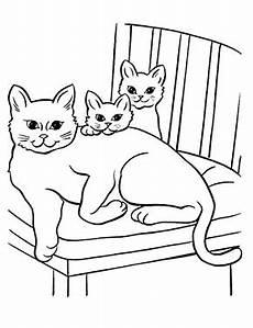 Ausmalbilder Katzenfamilie Ausmalbild Katzenfamilie Zum Ausdrucken