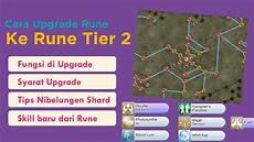 dapet skill tambahan cara upgrade tier rune ke rune tier