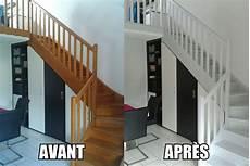 peindre un escalier en blanc peindre un escalier en bois escalier bois peinture