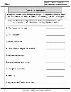 writing basic sentences worksheets 22123 free printouts and worksheets
