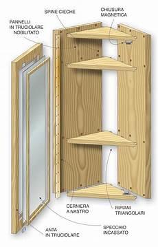 costruire un armadietto mobiletto angolare mobile angolare fai da te costruire