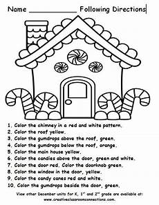 teaching directions year 1 11789 free gingerbread house for a following directions activity more december units for k 1st and