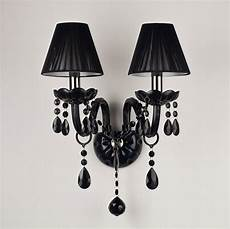 modern double heads black crystal candle wall ls with shade in wall ls from lights