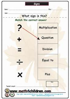 algebra worksheets symbols 8584 signs math symbols worksheet for pre k lesson planet