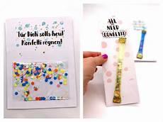 Ausgefallene Geburtstagskarten Selber Basteln - geburtstagskarte zum ausdrucken selber machen mit konfetti