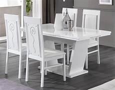 salle a manger laque blanc table de salle 224 manger design laqu 233 blanc brillant