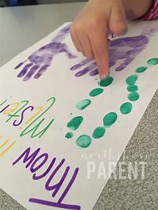 5 hand print activities to do with your 1 year old mardi gras handprint craft northshore parent