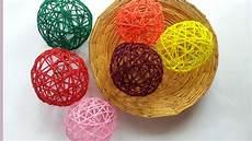 Basteln Mit Wolle - create decorative yarn balls diy home guidecentral