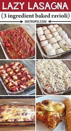 3 ingredient ravioli bake a k a lazy lasagna instrupix