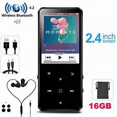 16gb Inch Bluetooth Player Built Speaker by Mp4 Player 16gb Bluetooth 4 0 Touch Lossless Sound Metal