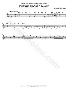 quot theme from jaws quot from jaws sheet music leadsheet