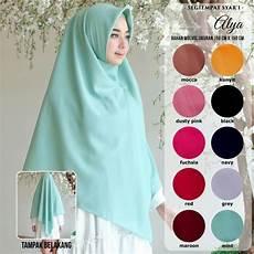 Jilbab Segi Empat Polos Bahan Tebal Sekilas Bahan