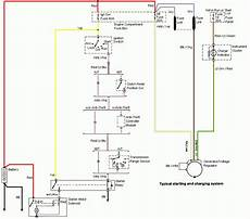94 explorer starter wiring diagram 94 98 mustang alternator starting and charging wiring diagram